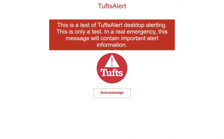 Desktop alerting test example