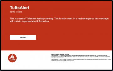 Screenshot of a desktop alert